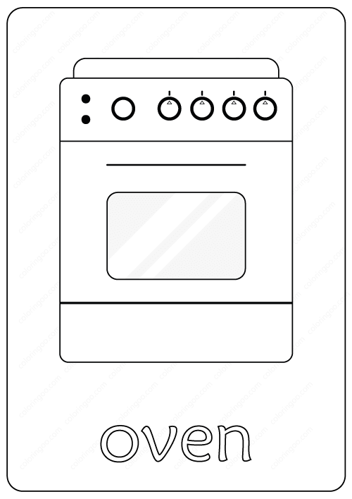 Printable Oven Coloring Page - Book PDF