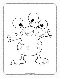 Printable Alien Coloring Page - Book PDF