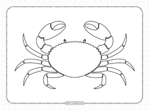 Printable Cute Crab Coloring Pages PDF