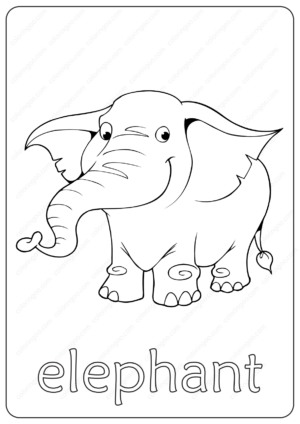 Printable Elephant Coloring Page - Book PDF