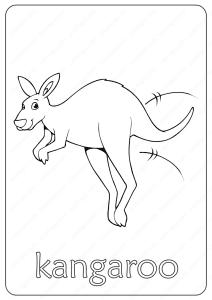 Printable Kangaroo Coloring Page - Book PDF