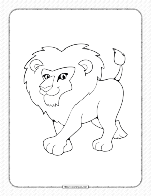 Printable Lion Coloring Page - Book PDF