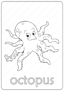 Printable Octopus Coloring Page - Book PDF