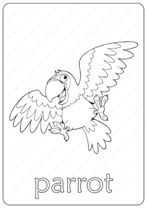 Printable Parrot Coloring Page - Book PDF