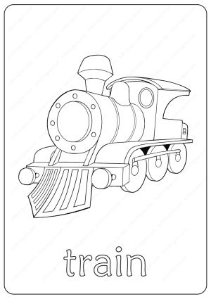 Printable Train Coloring Page - Book PDF