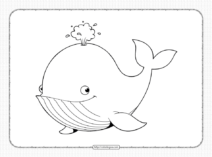 Printable Whale Coloring Page - Book PDF