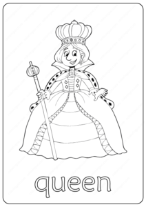 Printable Queen Coloring Page - Book PDF