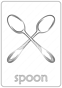 Printable Spoon Coloring Page - Book PDF
