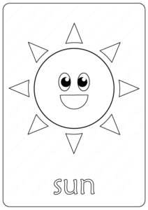 Printable Sun Coloring Page - Book PDF