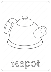 Printable Teapot Coloring Page - Book PDF