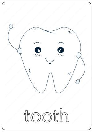 Printable Tooth Coloring Page pdf