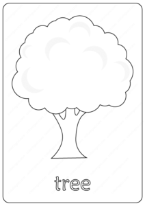 Printable Tree Coloring Page - Book PDF