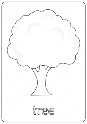 Printable Tree Coloring Page book pdf