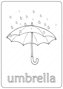 Printable Umbrella Coloring Page - Book PDF