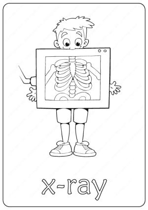 Printable X-Ray Coloring Page pdf