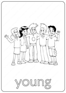 Printable Young Coloring Page - Book PDF