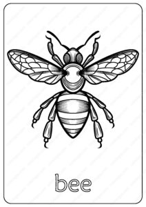 bee-coloring-pages