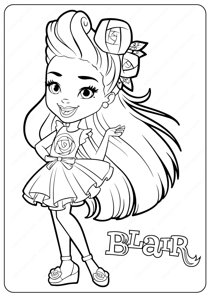 Blair Sunny Day Coloring Pages