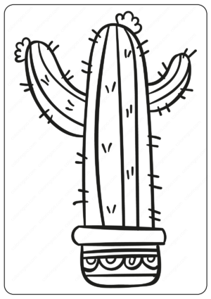 Cute Prickly Cactus Coloring Pages Book