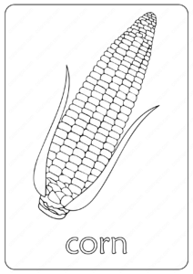 Free Printable Corn Maize Coloring Pages