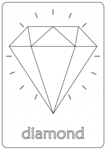 Free Printable Diamond Coloring Pages