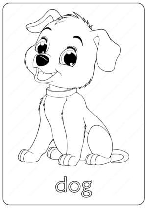 Printable Funny Childs Dog Coloring Pages