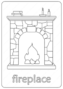 Free Printable Fireplace Coloring Pages