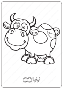Free Printable Baby Cow Coloring Pages