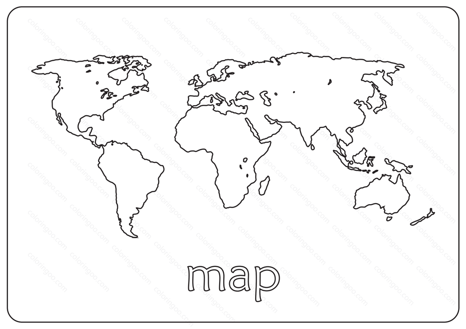 Free Printable Map Coloring Pages