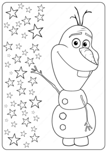 Printable Frozen Olaf Coloring Pages