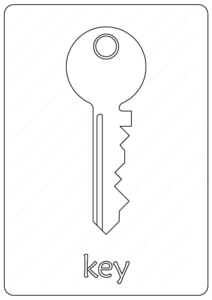 Free Printable Key Coloring Pages
