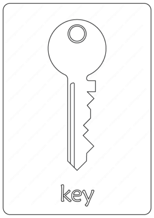 Key Coloring Pages