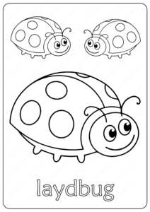 Free Printable Cute Laydbug Coloring Pages