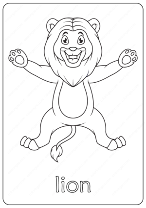 Free Printable Cute Lion Coloring Pages