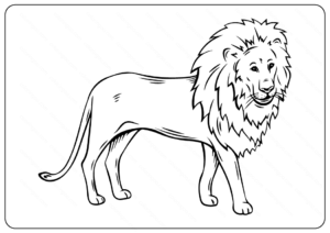Printable Lion Coloring Page - Book PDF