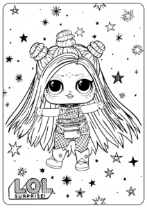 Free Printable LOL Surprise Hairgoals Coloring Pages