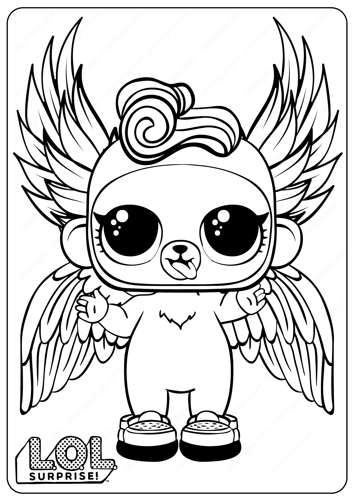 Free Printable LOL Surprise Monkey Coloring Pages