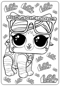 Printable LOL Surprise Shorty Kitty Coloring Pages