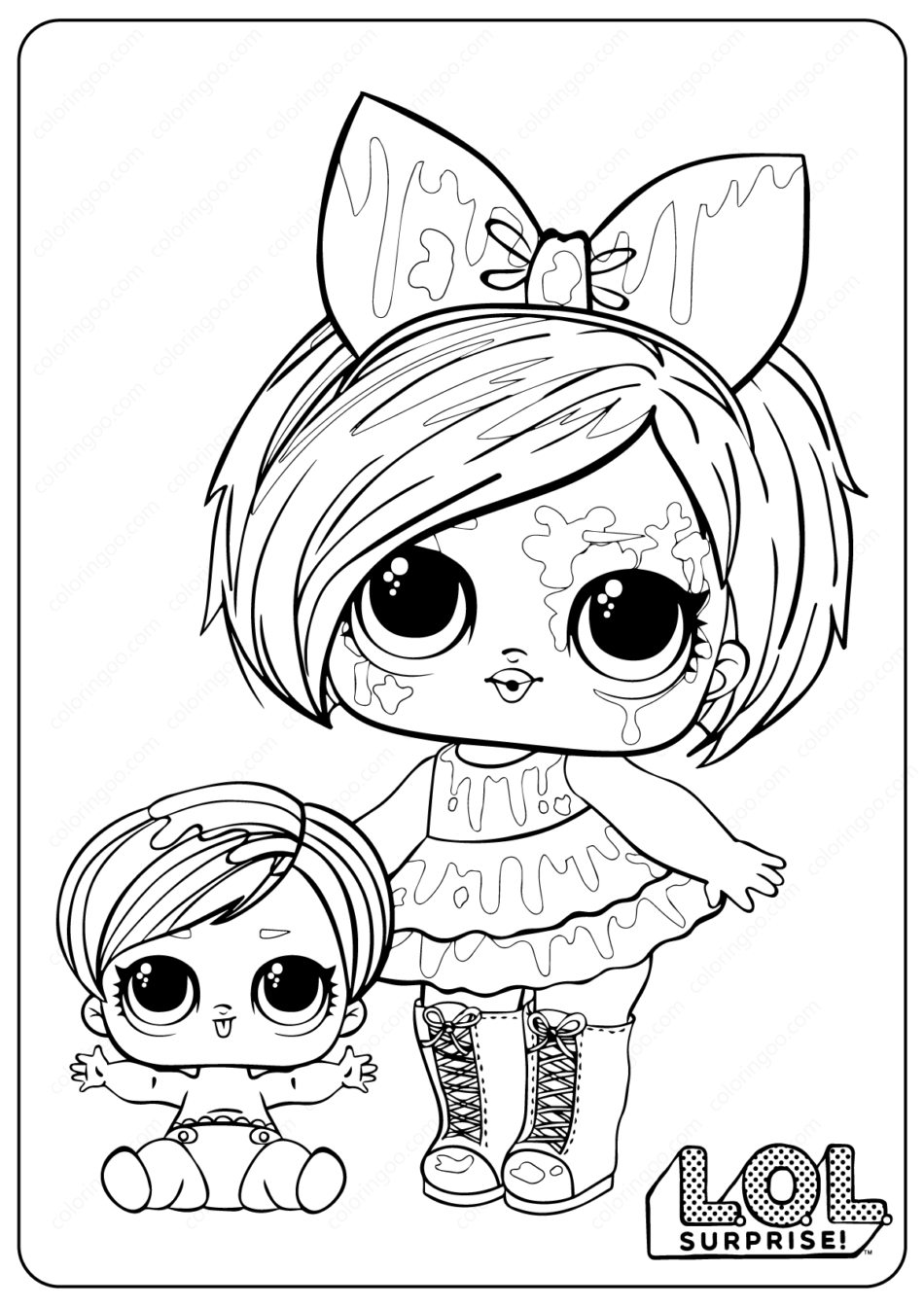 Printable LOL Surprise Spletters Coloring Pages