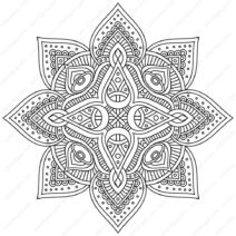 Fancy Mandala Coloring Pages PDF