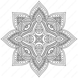 Fancy Mandala Coloring Pages
