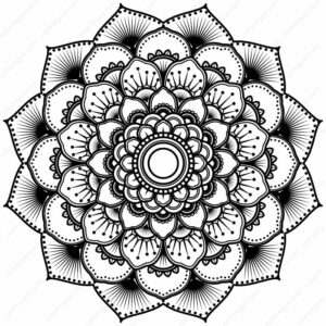 Indian Ornament Mandala Coloring Pages
