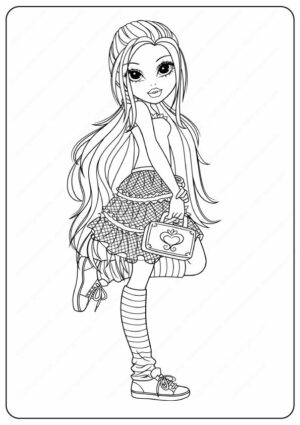Printable New Moxie Girlz Coloring Pages