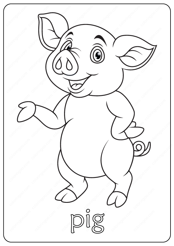 Free Printable Cute Pig Coloring Pages