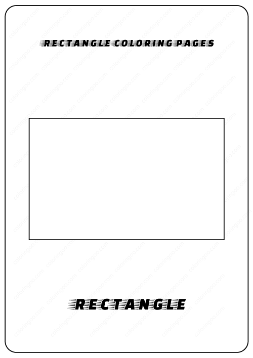 rectangle coloring pages