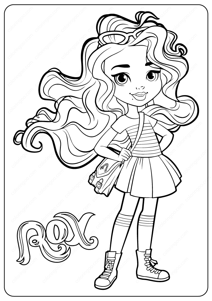 rox Sunny Day Coloring Pages
