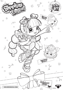 Shopkins Shoppies Rainbow Kate Coloring Pages