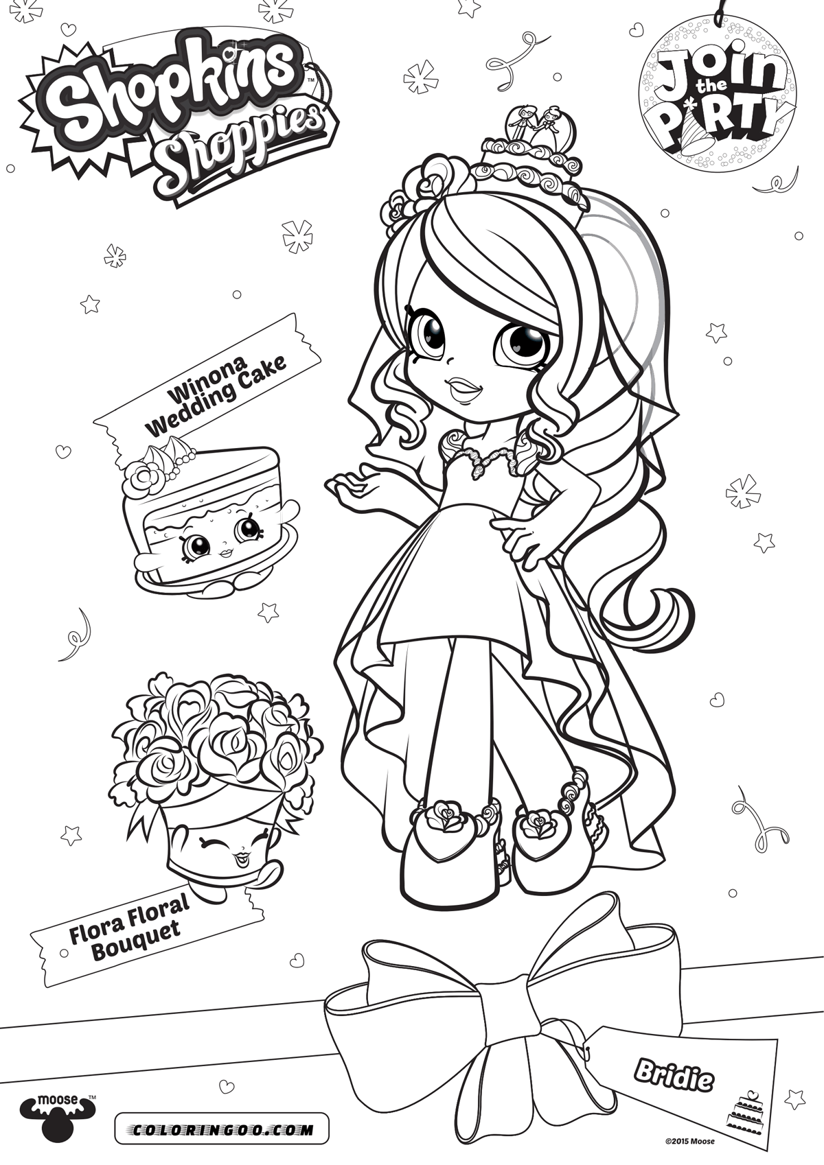 Shopkins Shoppies Cute Bridie Coloring Pages
