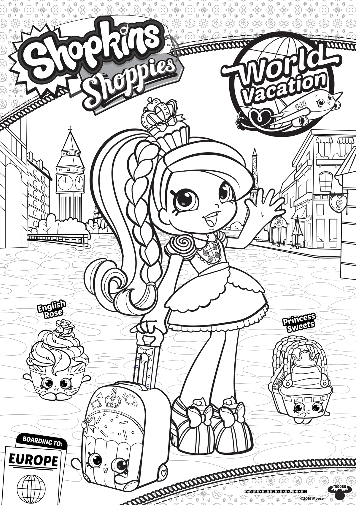 Shopkins Shoppies Jessicake Coloring Pages