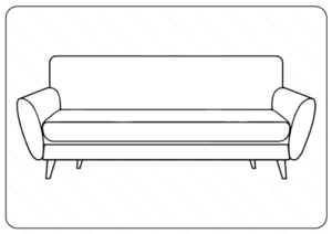 Sofa Couch Coloring Pages